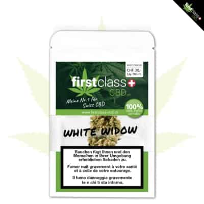 "firstclass Indoor CBD ""WHITE WIDOW"" 2.5g"