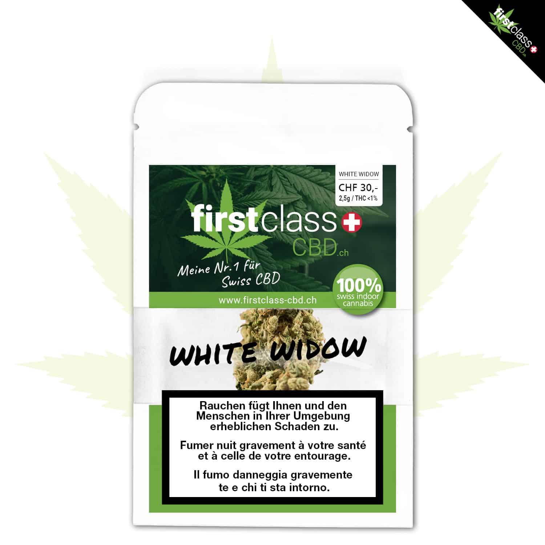 """firstclass Cannabis Indoor CBD """"WHITE WIDOW"""" 2.5g"""