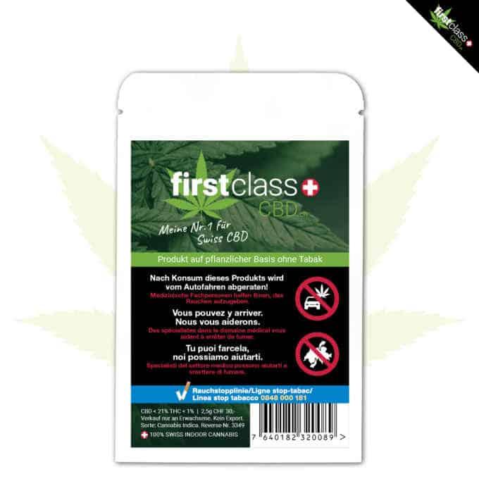 """Swiss """"firstclass"""" Cannabis Indoor CBD """"WHITE WIDOW"""" 2.5g"""