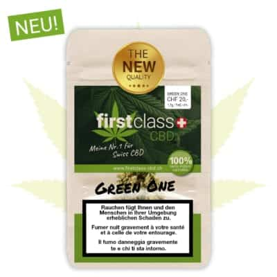 "Neu: firstclass Indoor CBD ""green one"" 1.7g - 10g"
