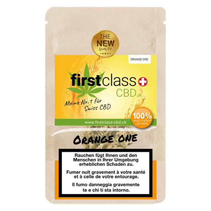 "Swiss ""firstclass"" CBD Cannabis Indoor Blüten ""Orange One"" 2.0gr."