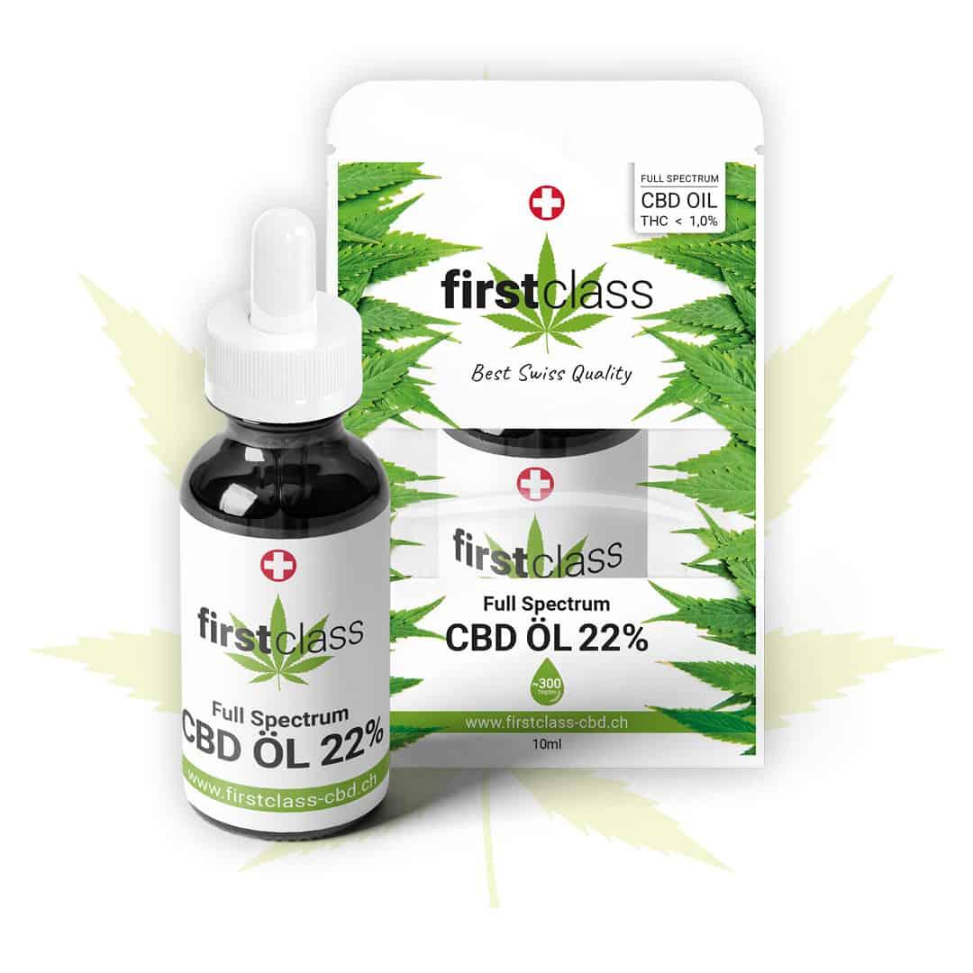 Swiss firstclass CBD Öl - höchste Schweizer Qualität mit 22% CBD THC 0.9%