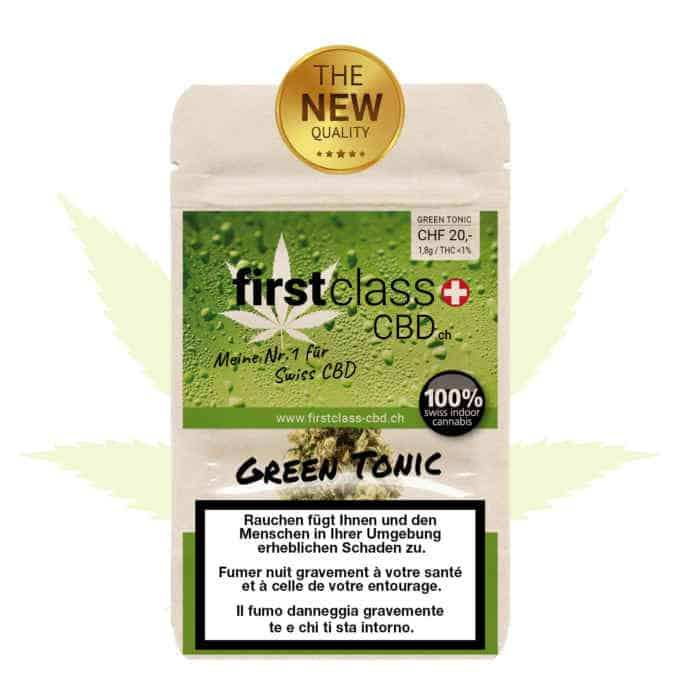 "Swiss ""firstclass"" Cannabis CBD Indoor ""Green Tonic"" 1,8g - 4.0g"