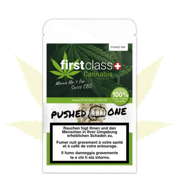 "Swiss ""firstclass"" CBD Indoor ""PUSHED ONE"" 2g"