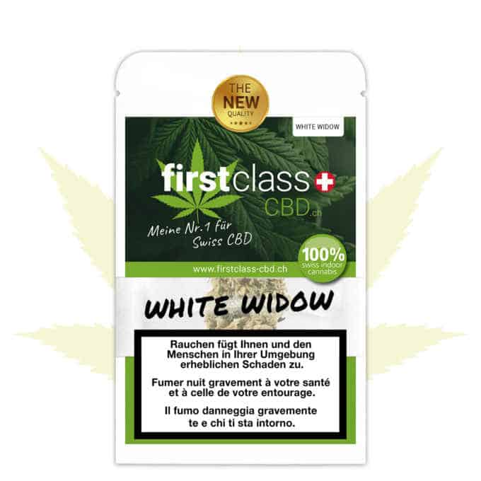 "Swiss ""firstclass"" Cannabis Indoor CBD ""WHITE WIDOW"" 2.5g"