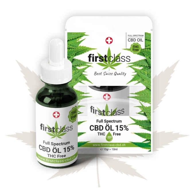 CBD Öl 15 Prozent - ohne THC - THC FREE Swiss