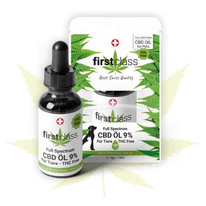 CBD Öl für Tiere 9% – höchste CBD Qualität / THC FREE