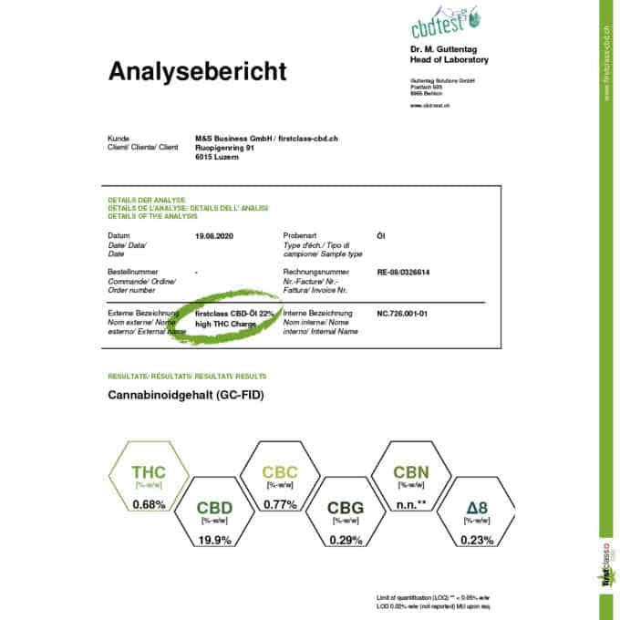 "Swiss ""firstclass"" CBD Öl - höchste Schweizer Qualität mit ~ 22% CBD 3"