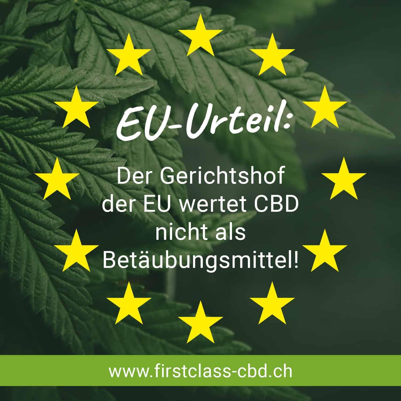 Klarheit: CBD ist kein Betäubungsmittel. Der EU-Gerichtshof urteilte am 19.11.2020 1